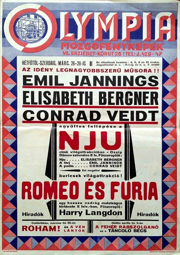 Husbands or Lovers hungarian vintage poster