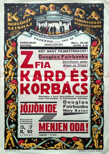 Don q son of zorro vintage hungarian poster