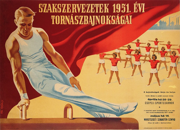 Gyorgy Pal - Gymnastics Championships of the Labor Union in 1951