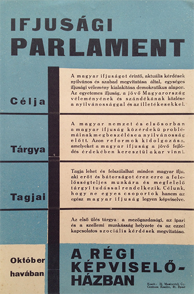 1. youth parliament 1932 modernist poster