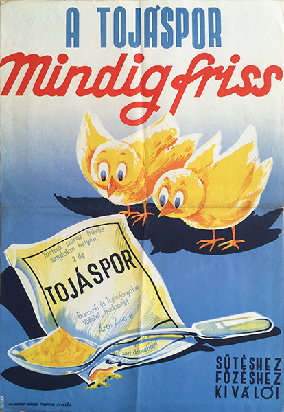 4. egg powder is always fresh vintage poster