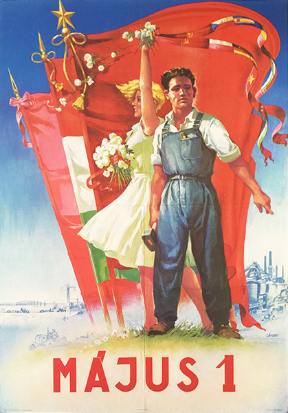 12. 1st of may communist propaganda poster