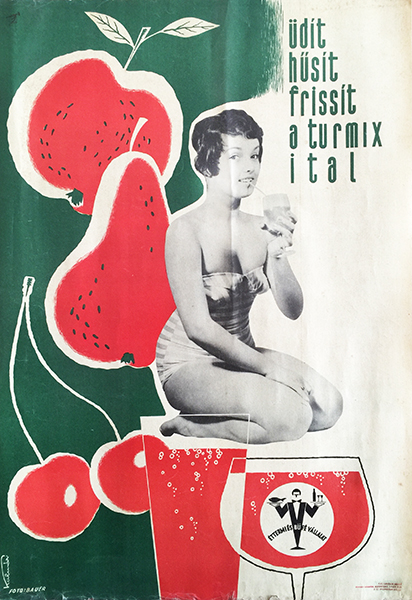 Drink refreshing smoothies vintage poster pinup