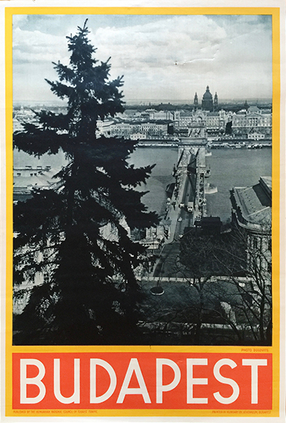 Budapest travel poster photo dulovits 1935