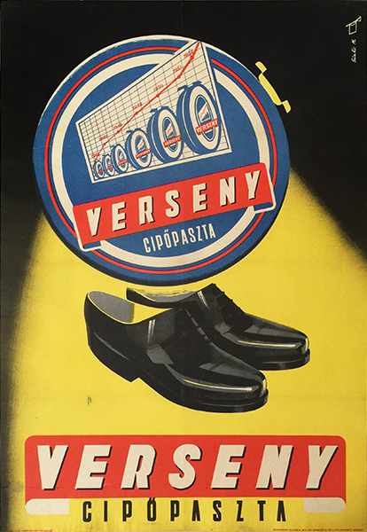 Race shoe polish 1950 poster