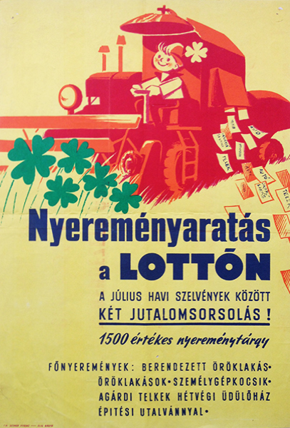 National lottery vintage poster