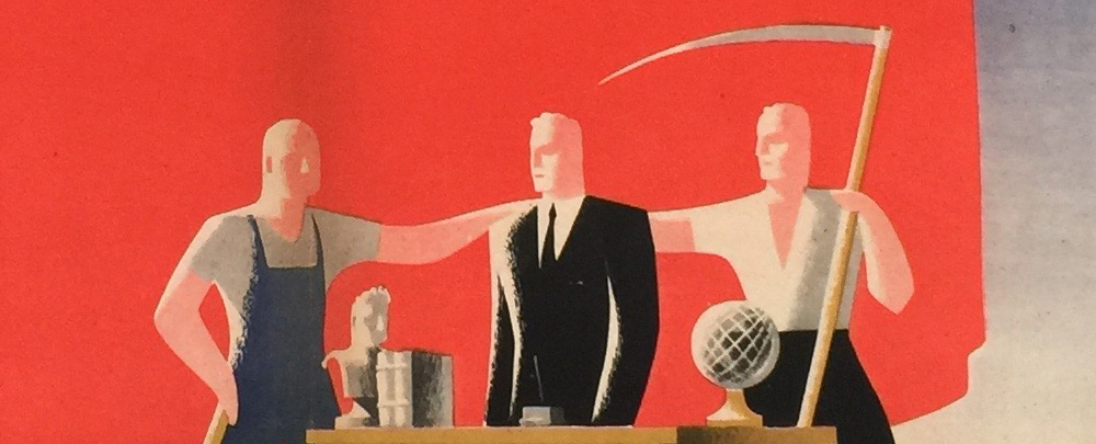 Tamássi: Intellectual, your place is among us! 1945 (detail)