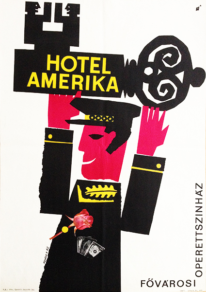Hotel america vintage theatre poster
