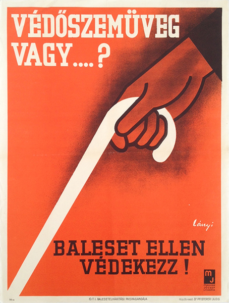 Lanyi   modernist safety poster 1937
