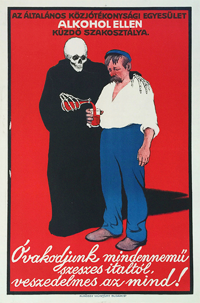 Voit beware of alcohol 1912 vintage poster propaganda