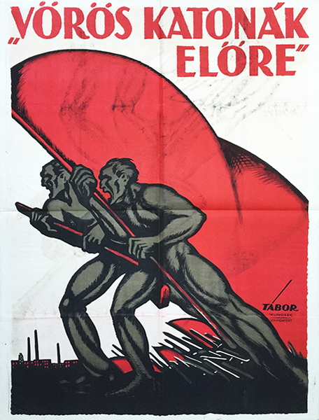 4. tabor janos   red soldiers advance 1919 poster