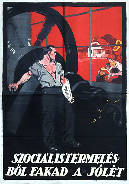 9. prosperity production communist propaganda poster 1919 w