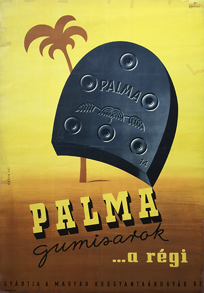 11. gabor pal   palma heels are the same vintage poster 1948 hungarian