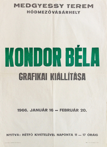 Bela Kondor - Exhibition of graphic works