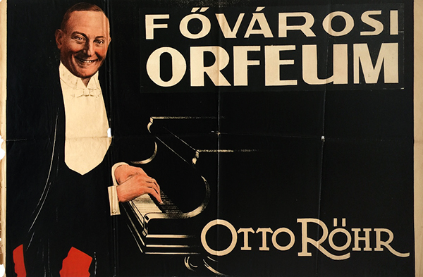 30. otto rohr at the capital orfeum hungarian vintage poster