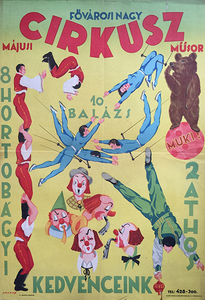 43. municipal grand circus   may 1951 hungarian poster