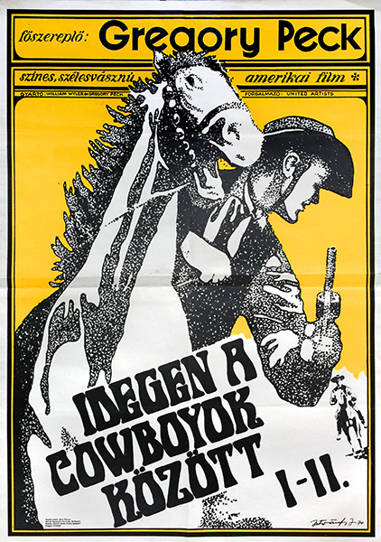 45. the big country western hungarian movie poster
