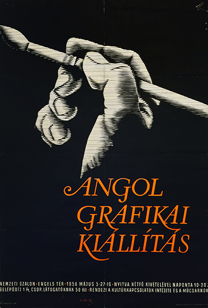 69. gabor pal   english graphic art exhibition 1956 hungarian poster