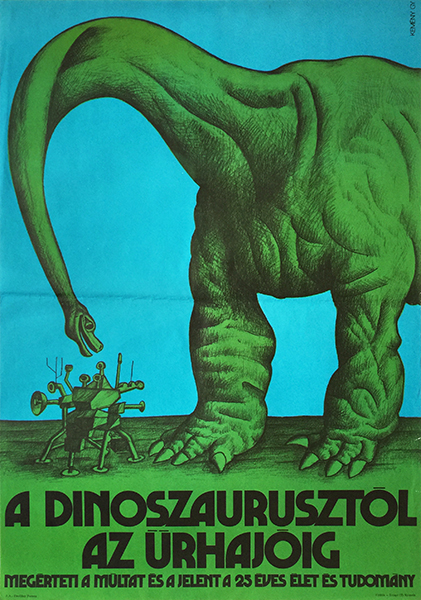 72. kemeny gyorgy from dinosaurs to spaceships life and science journal hungarian poster 1971