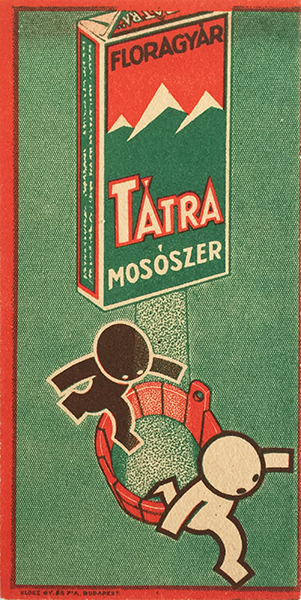 93. bereny robert tatra washing powder hungarian modernist advertising slip 1930