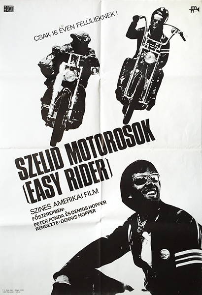 6. easy rider 1969 fomo hungarian movie poster