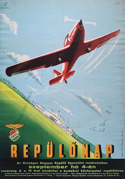 17. macskassy fejes   airshow aviation day 1949 hungarian poster
