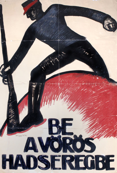 Join the red army poster artwork 1919 hungarian communist avant garde