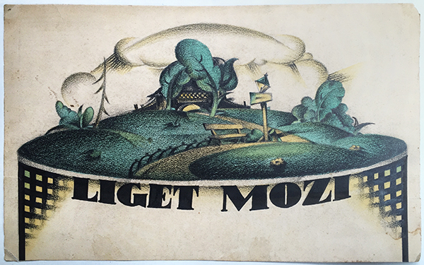 11. park cinema liget mozi hungarian poster maquette around 1925