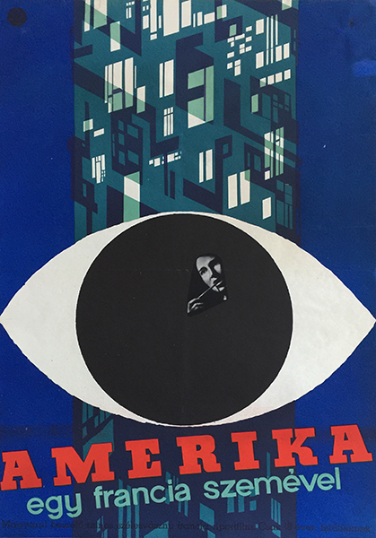 America as seen by a frenchman hungarian movie poster
