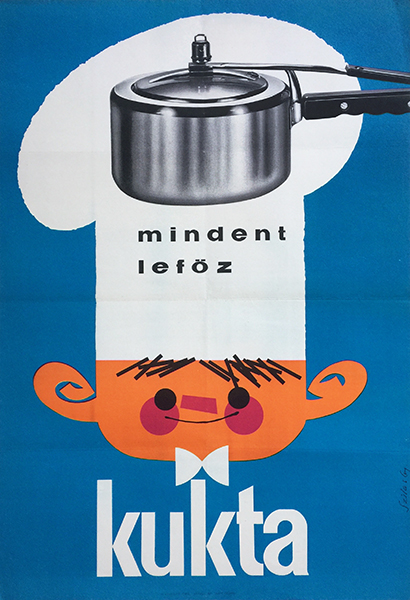 11. gyozo szilas   pressure cooker cooks better than anything 1960s hungarian poster gastronomy cooking