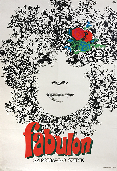 Lajos gorog   fabulos cosmetics beauty products 1972 hungarian poster