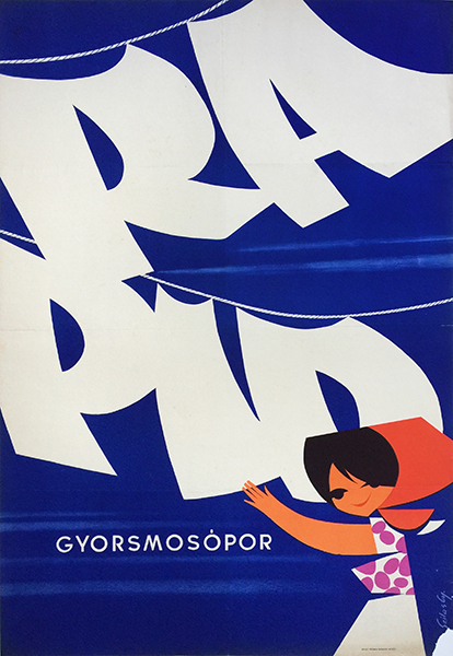 Gyozo szilas   rapid fast washing powder 1963 hungarian poster