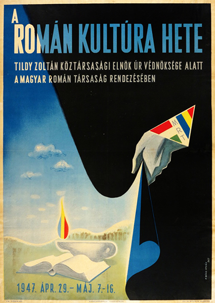 Istvan kopeczi bocz   week of romanian culture 1947 hungarian poster