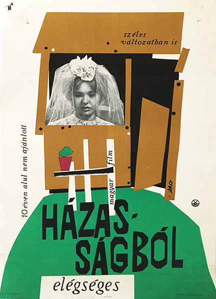Darvas a%cc%81rpa%cc%81d   rather week from marriage 1961 original hungarian movie poster