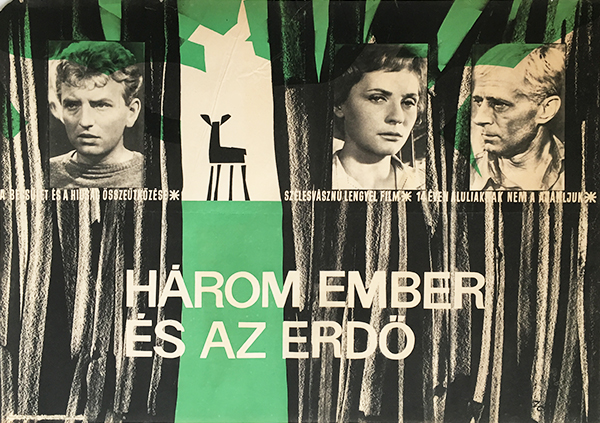 Zelena%cc%81k crescencia   three and the forest 1963 original hungarian movie poster