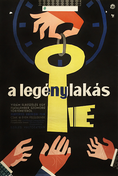 4.jakfalvy the apartment jack lemmon 1961 hungarian movie poster
