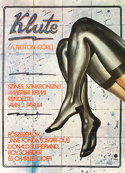 andra%cc%81s andor   klute 1983 hungarian movie poster