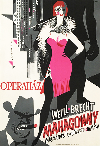 Ko%cc%88peczi bo%cc%81cz istva%cc%81n   rise and fall of the city of mahagonny at the state opera house 1967 oiginal hungarian theatre poster