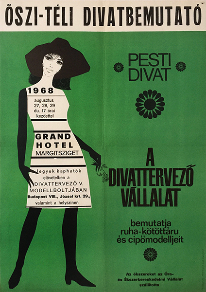 Autumn   winter fashion show 1968 hungarian poster