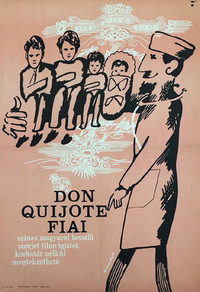 Darvas a%cc%81rpa%cc%81d   children of don quijote 1967 original hungarian movie poster