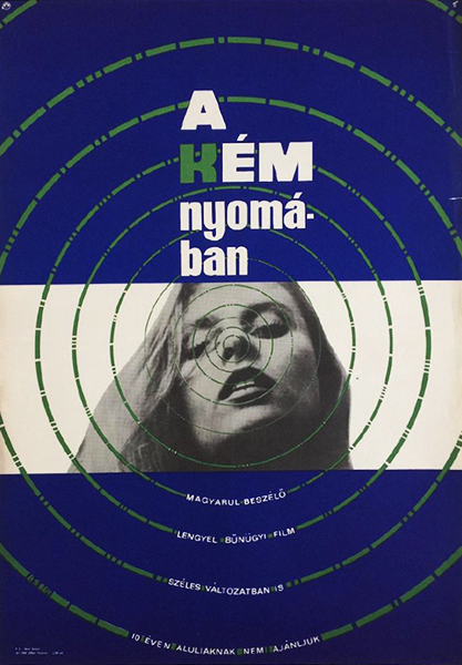 Bs   rendez vous with a spy 1964 original hungarian movie poster