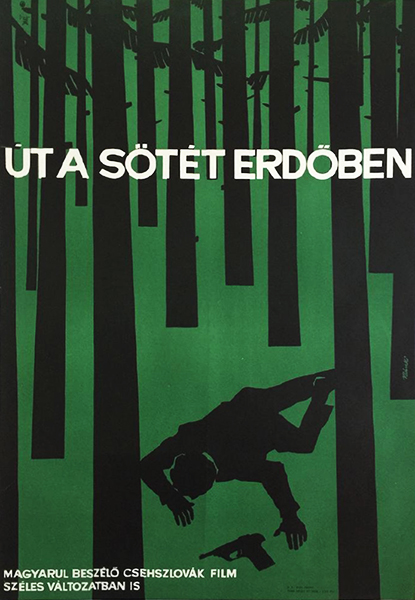 Ba%cc%81nki la%cc%81szlo%cc%81   the road in the dark forest 1965 hungarian movie poster