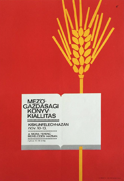 Agricultural book exhibition 1960s original hungarian poster