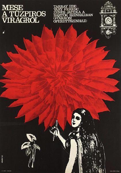 Keme%cc%81ny gyo%cc%88rgy   tale of a fiery red flower   operetta theatre 1966 original hungarian poster