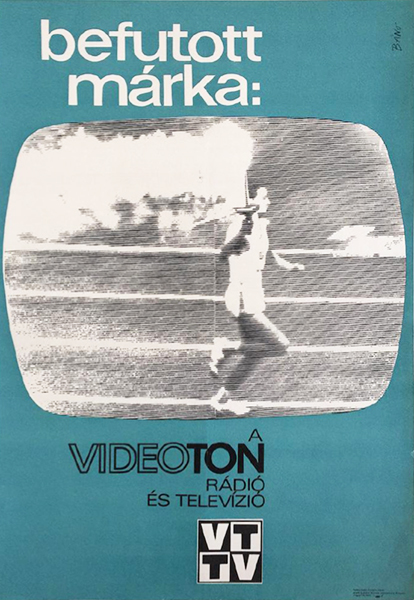 Ba%cc%81no%cc%81 endre   videoton radio and television 1968 original hungarian commercial poster