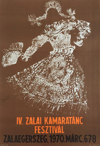 Dus l.   4th chamber dance festival in zala 1970 original hungarian event poster