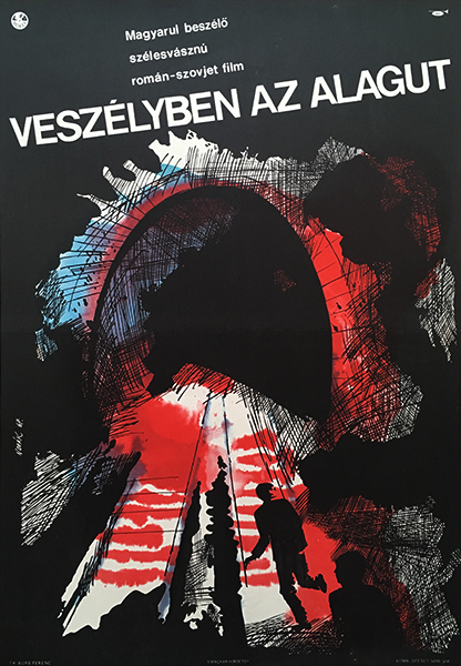 Nova%cc%81k  henrik   the tunnel 1967 original hungarian movie poster