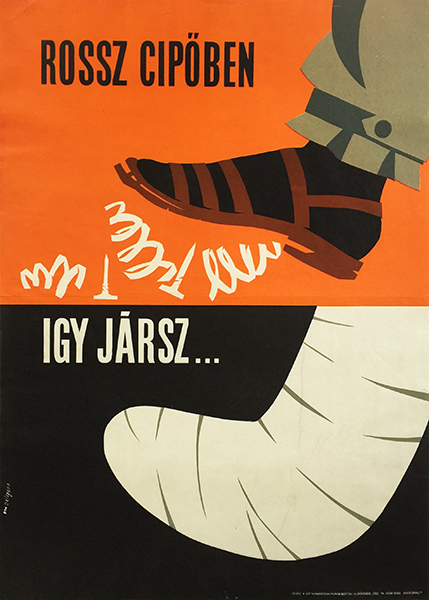 medgyes   wearing a bad shoe will lead to this 1966 hungarian work safety poster