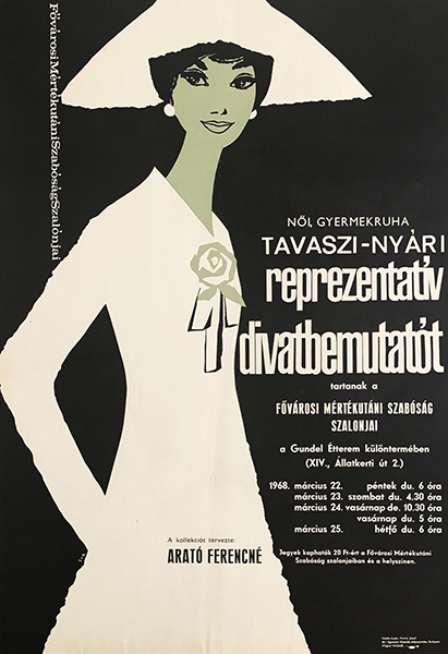 Spring summer representative fashion show 1967 original hungarian vintage movie poster