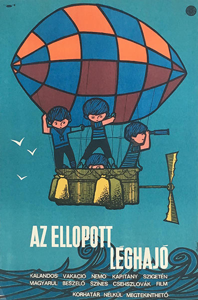 Ba%cc%81nki  la%cc%81szlo%cc%81  the stolen airship 1967 original hungarian vintage movie poster